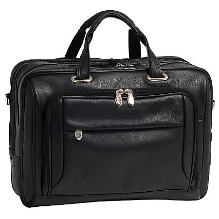McKlein West Loop Leather Briefcase, Black