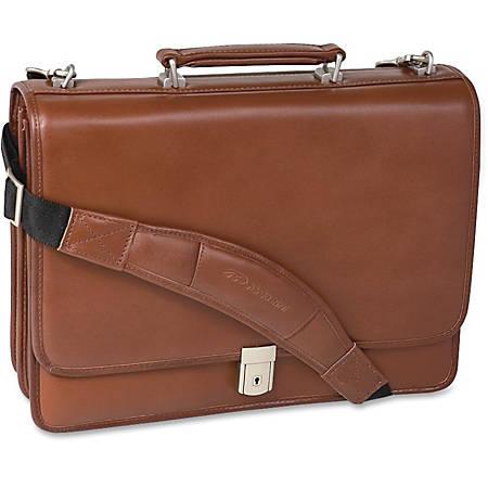 McKlein Lexington Leather Expandable Briefcase, Brown