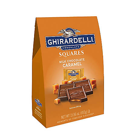 Ghirardelli® Chocolate Squares, Milk Chocolate And Caramel, 15.9 Oz Bag