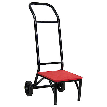 "Flash Furniture Banquet/Stacking Chair Dolly, 42 1/2""H x 20""W x 40""D, Red"