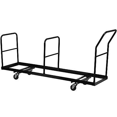 "Flash Furniture Vertical Storage Folding Chair Dolly, 39 1/4""H x 19 1/4""W x 80 3/4""D, Black"