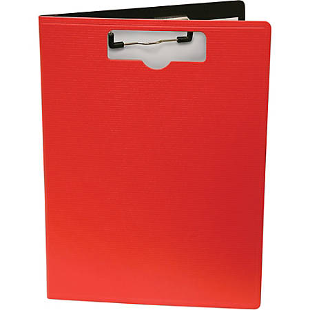 """Mobile OPS Unbreakable Recycled Clipboard - 0.50"""" Clip Capacity - Top Opening - 8 1/2"""" x 11"""" - Low-profile - Red - 1 Each"""
