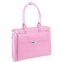 McKlein Winnetka Italian Leather Briefcase Pink