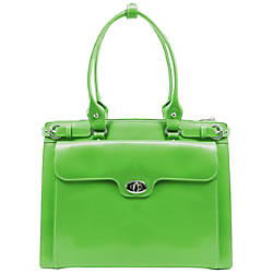 McKlein Winnetka Italian Leather Briefcase Green