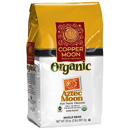 Copper Moon Coffee Whole Bean Coffee, Aztec Moon Fair Trade, 2 Lb Per Bag, Case Of 4 Bags