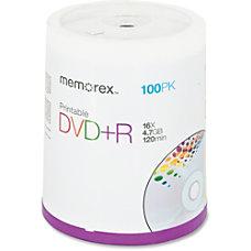 Memorex Inkjet Printable DVDR Disc Spindle