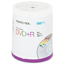 Memorex Inkjet Printable DVDR Disc Spindle