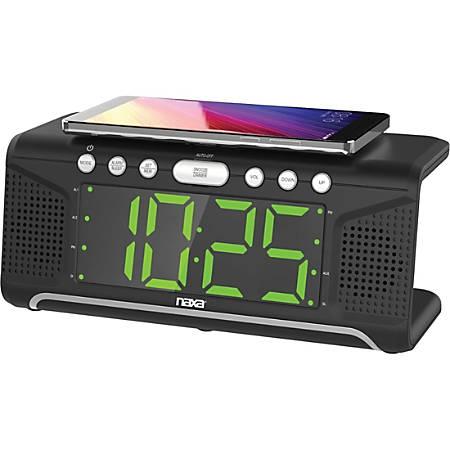 Naxa NRC-190 Clock Radio - Stereo - 2 x Alarm - FM - USB