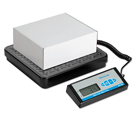 "Brecknell® Bench Scale With Remote Display, 400-Lb Capacity, 12 3/16""H x 11 11/16""W x 1""D, Black"
