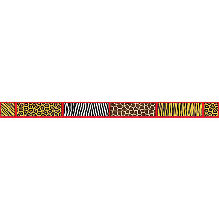 "Scholastic Bulletin Board Border, Safari, 3"" x 36'"