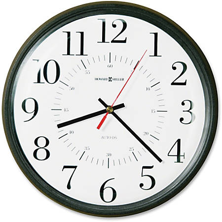 Howard Miller Alton Auto Daylight Sav Wall Clock - Analog - Quartz