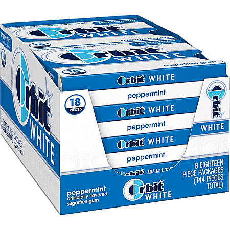 Orbit® Sugar-Free Mint Gum, Box Of 18