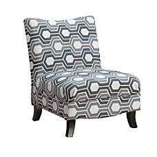 Monarch Specialties Slipper Accent Chair Gray