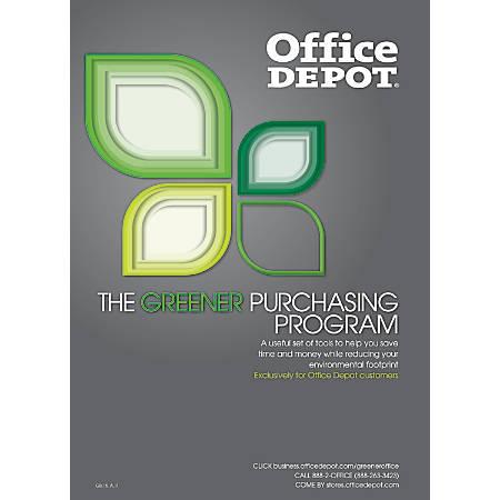 Office Depot Greener Purchasing Program Guide Printed