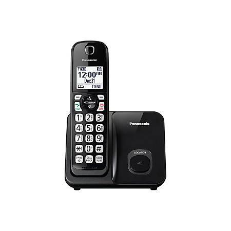 Panasonic® DECT 6.0 Cordless Telephone, 1 Handset, KX-TGD510B