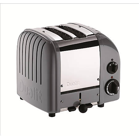 Dualit® NewGen Extra-Wide Slot Toaster, 2-Slice, Cobble Gray