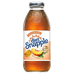 Snapple Diet Peach Tea 16 Oz