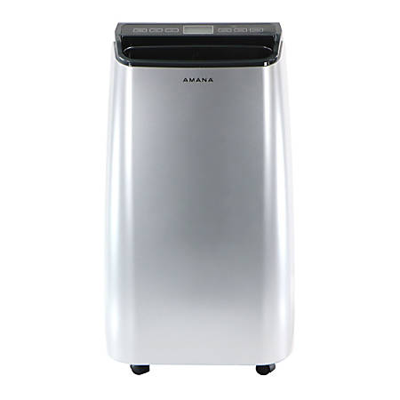 """Amana Portable Air Conditioner With Remote Control, 350 Sq Ft, 28 3/4""""H x 16 15/16""""W x 14 1/4""""D, Silver/Gray"""