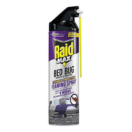 Raid Max Foaming Crack & Crevice Bedbug Killer, 7.44 Oz, Pack Of 6 Containers