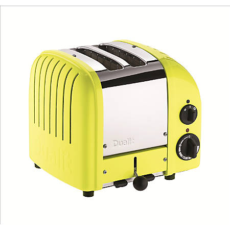 Dualit® NewGen Extra-Wide Slot Toaster, 2-Slice, Citrus Yellow