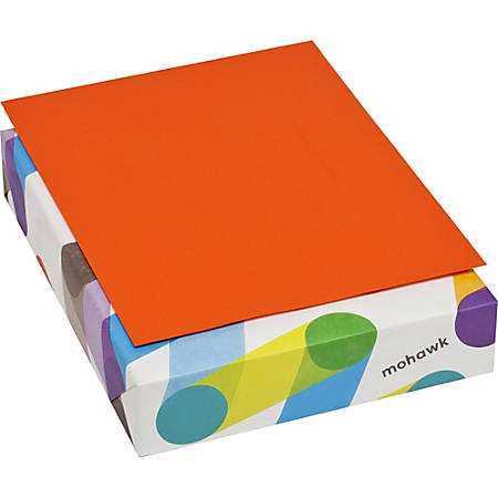 "BriteHue Inkjet, Laser Print Copy & Multipurpose Paper - Letter - 8 1/2"" x 11"" - 24 lb Basis Weight - Recycled - Smooth, Vellum - 500 / Ream - Orange"
