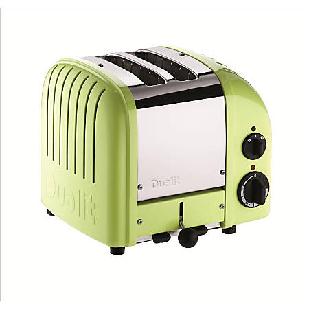 Dualit® NewGen Extra-Wide Slot Toaster, 2-Slice, Lime Green