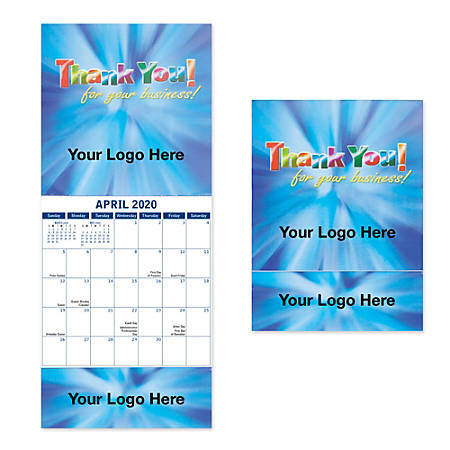 """Full-Color Monthly Wall Calendar, 7 1/2"""" x 5 1/2"""""""