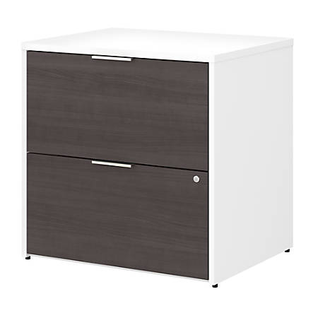 Bush Business Furniture Jamestown 2-Drawer Lateral File Cabinet, Storm Gray/White, Standard Delivery