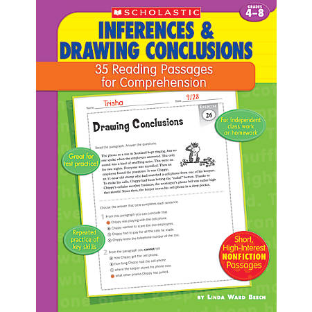 Scholastic Comprehension — Inference — Grades 4-8