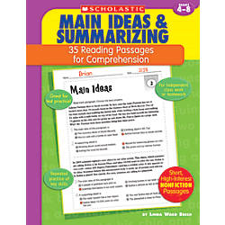 Scholastic Comprehension Main Idea Grades 4