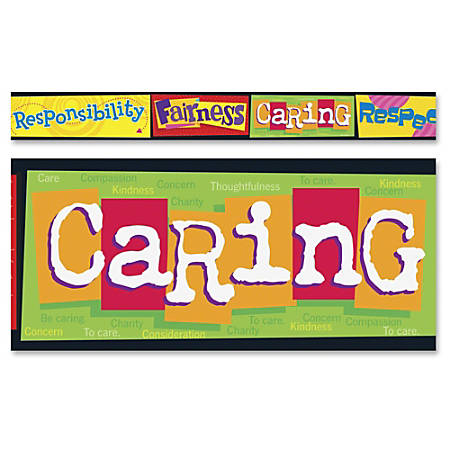 """Trend Character Education Bolder Borders - Learning Theme/Subject - Reusable, Durable - 2.75"""" Width x 429"""" Length - 1 Pack"""