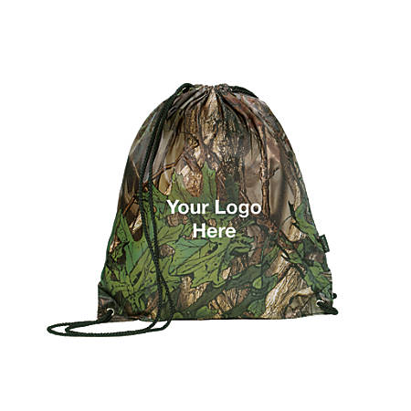Drawstring Sport Pack, Forest Camouflage