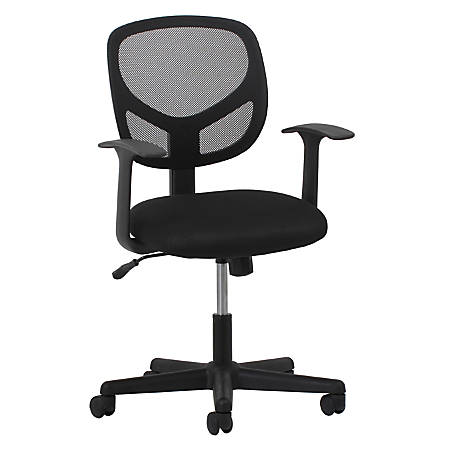Surprising Ofm Essentials Swivel Mesh Mid Back Task Chair Fixed Arms Black Silver Item 640418 Alphanode Cool Chair Designs And Ideas Alphanodeonline