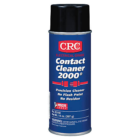 CRC Contact Cleaner 2000® Precision Cleaner, Wide Cap, 13 Oz, Pack Of 12 Cans