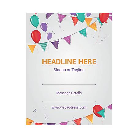 Custom Flyer, Vertical, Celebration