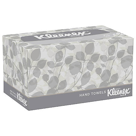 "Kleenex® 1-Ply Hand Towels In A Pop-Up Box, 9"" x 10-1/2"", Box Of 120 Towels"