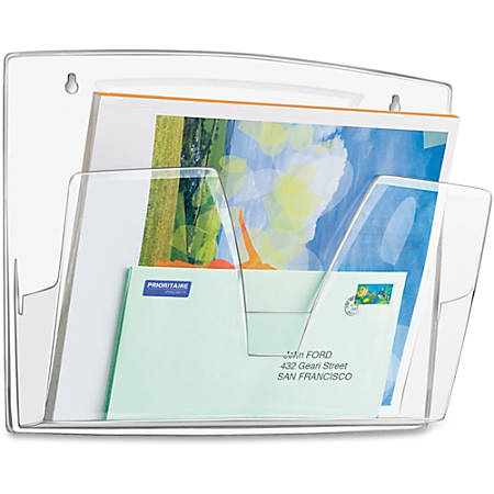 "CEP Wall File - 3 Pocket(s) - 10.6"" Height x 14.2"" Width x 3.4"" Depth - Wall Mountable - Ice Blue - Polystyrene - 3 / Pack"