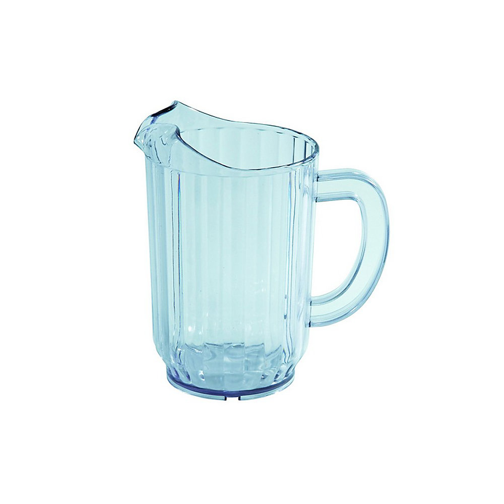 Winco Plastic Pitchers, 32 Oz, Blue Tint, Pack Of 4 Pitchers