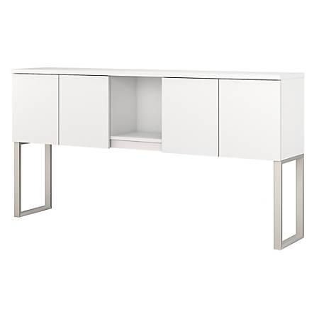 "Bush Business Furniture 400 Series Hutch, 72""W, White, Premium Installation"