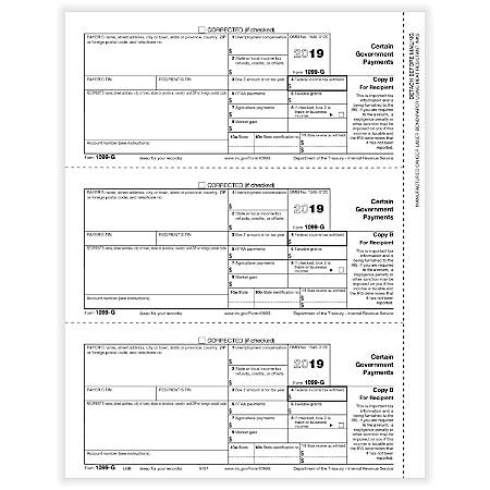 ComplyRight 1099 G Forms Copy B 50 Pack - Office Depot