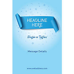 Adhesive Sign Blue Banner Vertical