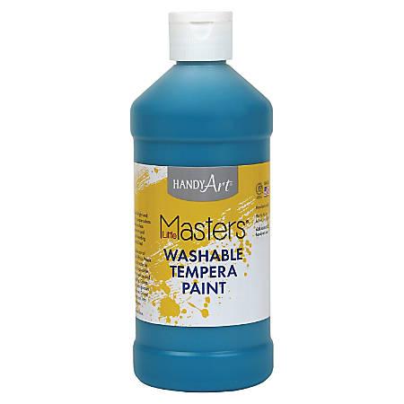 Handy Art 16 oz. Little Masters Washable Tempera Paint - 16 fl oz - 1 Each - Turquoise