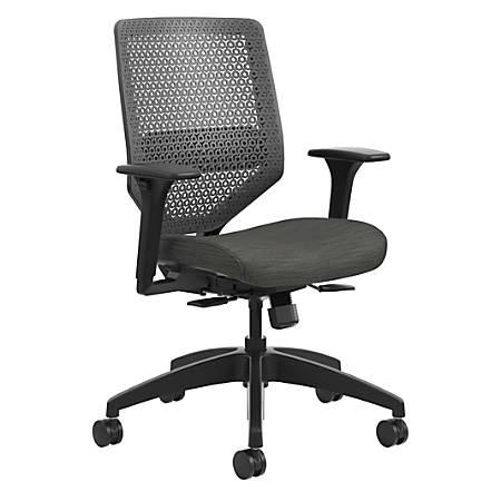 HON® Solve Fabric Mid-Back Task Chair, ReActiv Back, Ink/Black