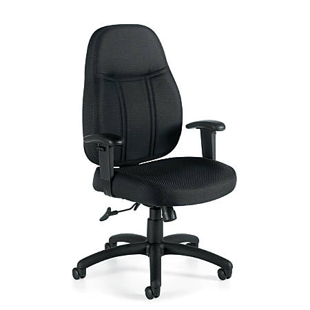 "Offices To Go™ Tilter Chair With Arms, 42 1/2""H x 25 1/2""W x 26 1/2""D, Black"