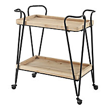 Linon Newell 2 Shelf Bar Cart