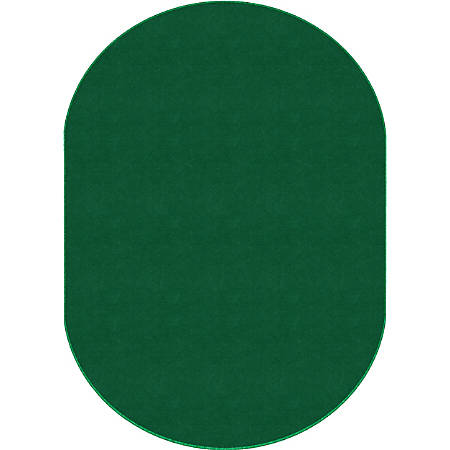 Flagship Carpets Americolors Rug, Oval, 12' x 18', Clover Green