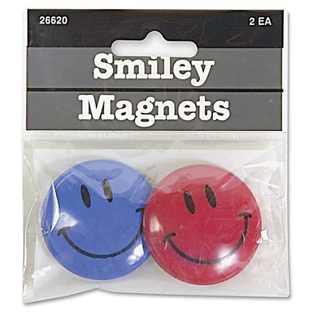 "Baumgarten's® Smile Magnets, 1 1/2"" Diameter, Pack Of 2"