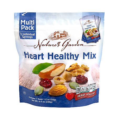 Nature's Garden Healthy Heart Mix, 1.2 Oz, 7 Pouches Per Bag, Pack Of 6 Bags