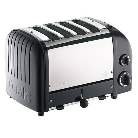Dualit® NewGen Extra-Wide-Slot Toaster, 4-Slice, Matte Black