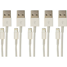 VisionTek Lightning to USB White 1